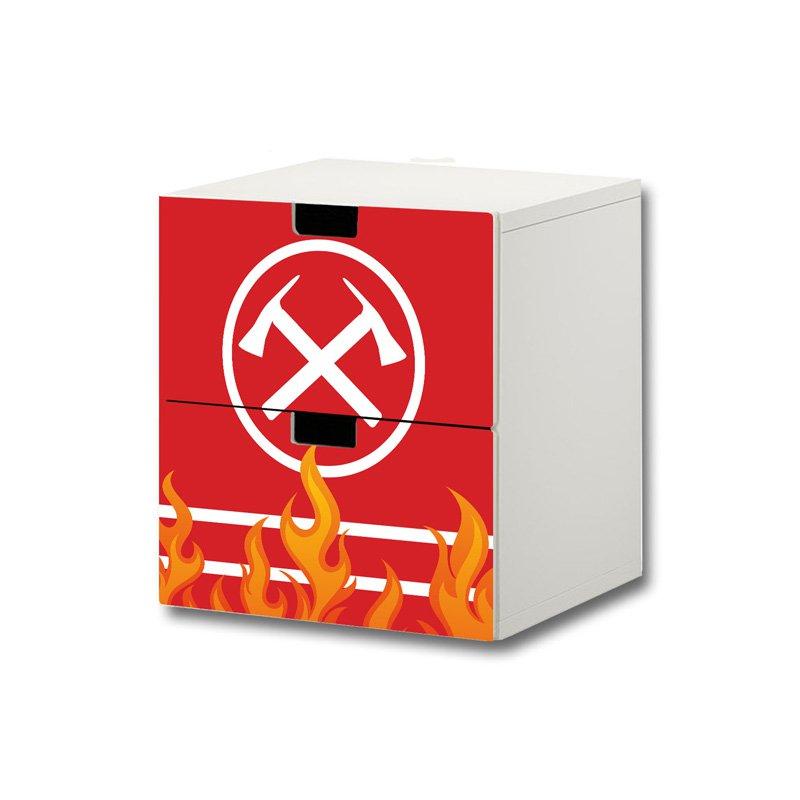 Feuerwehr-Aufkleber für Komode STUVA von IKEA - 2 Fächer (1)