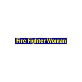 Aufkleber - Fire Fighter Woman