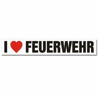 Aufkleber - I love Feuerwehr