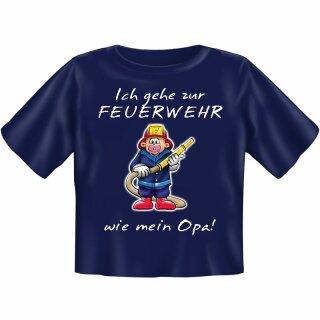 """Kinder-Shirt """"Ich gehe zur Feuerwehr wie mein Opa"""" 86/92"""