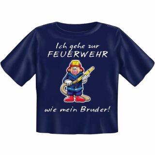 """Kinder-Shirt """"Ich gehe zur Feuerwehr wie mein Bruder"""" 98/104"""