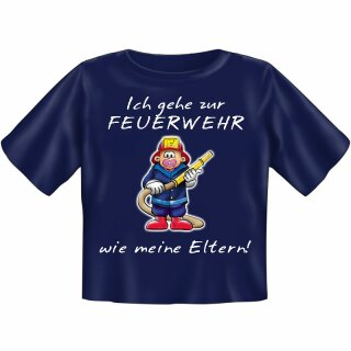 """Kinder-Shirt """"Ich gehe zur Feuerwehr wie meine Eltern"""" 134/146"""