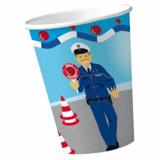 Pappbecher - Motiv Polizei