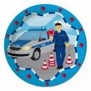 Pappteller - Motiv Polizei