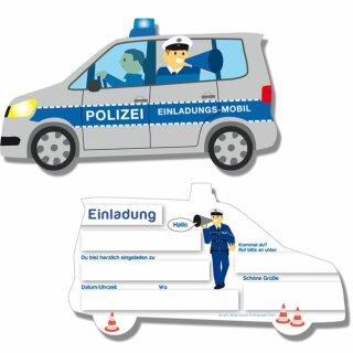 Einladungskarten - Motiv Polizei