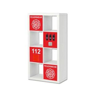 Feuerwehr-Aufkleber für Regal EXPEDIT / KALLAX von IKEA (2)