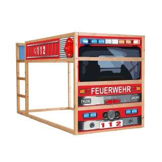 Feuerwehrauto-Aufkleber für Bett KURA von IKEA
