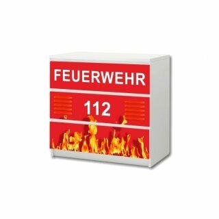 Feuerwehr-Aufkleber für Komode MALM von IKEA - 3 Fächer (1)