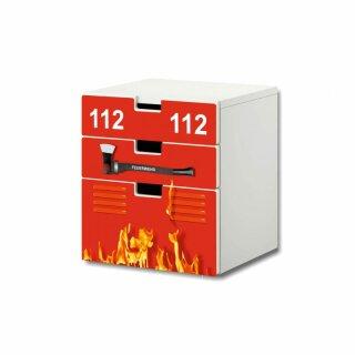 Feuerwehr-Aufkleber für Komode STUVA von IKEA - 3 Fächer (1)