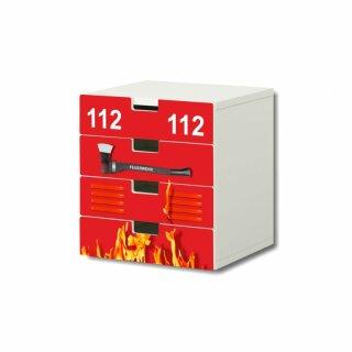 Feuerwehr-Aufkleber für Komode STUVA von IKEA - 4 Fächer (1)