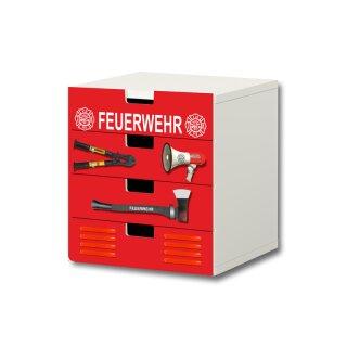 Feuerwehr-Aufkleber für Komode STUVA von IKEA - 4 Fächer (2)