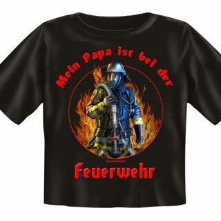 """Baby-Shirt """"Papa ist bei der Feuerwehr"""" (2) L (80-86)"""