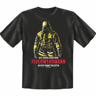 """Spaß-Shirt """"Frauen lieben einen Feuerwehrmann"""" M"""