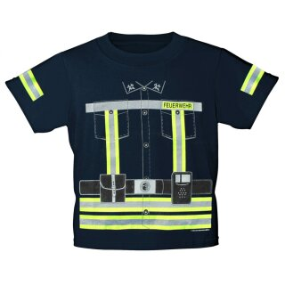 """Kinder-Shirt """"Feuerwehrmann"""" 3/4 (98-104)"""