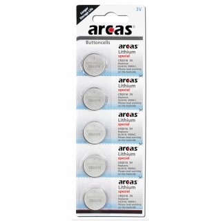 Lithiumzelle CR2016 - 5er Pack