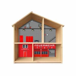 Feuerwehr-Aufkleber für das Puppenhaus IKEA FLISAT