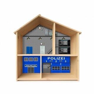 Polizei-Aufkleber für das Puppenhaus IKEA FLISAT