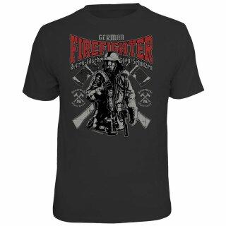 """Spaß-Shirt """"German Firefighter"""" M"""