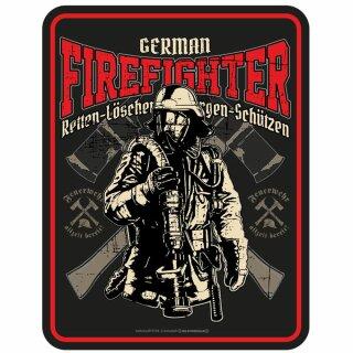 """Blechschild """"German Firefighter"""""""