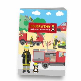 Mal- und Rätselheft - Motiv Feuerwehr 1