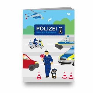 Mal- und Rätselheft - Motiv Polizei