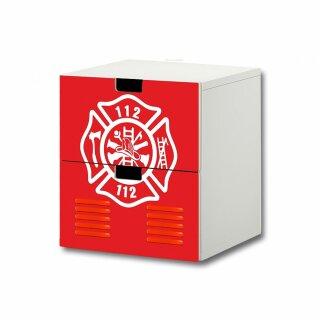 Feuerwehr-Aufkleber für Komode STUVA von IKEA - 2 Fächer (3)