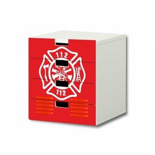 Feuerwehr-Aufkleber für Komode STUVA von IKEA - 4 Fächer (3)