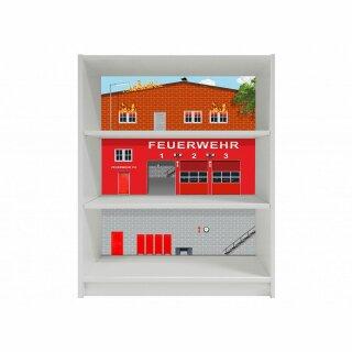 Feuerwehr-Aufkleber für Regal BILLY von IKEA - breit