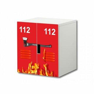 Feuerwehr-Aufkleber für Komode STUVA von IKEA - 2 Türen (1)