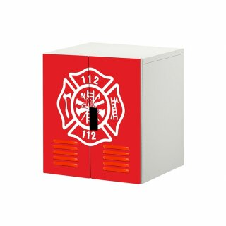 Feuerwehr-Aufkleber für Komode STUVA von IKEA - 2 Türen (3)