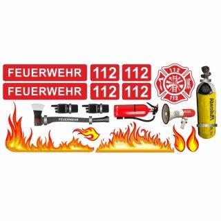 Feuerwehr-Aufkleber-Set Löschen