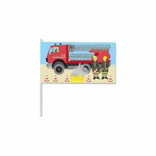 Papierflaggen - Motiv Feuerwehr 1