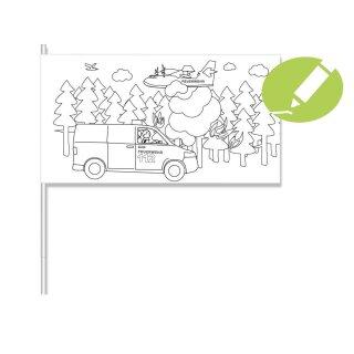 Kreative Papierflaggen - Motiv Feuerwehr 1