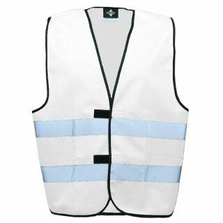 Funktionsweste weiß 2XL Rücken- u. Brustdruck