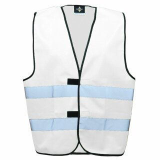 Funktionsweste weiß 3XL Rücken- u. Brustdruck