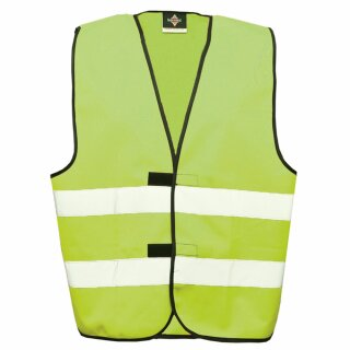 Funktionsweste limegreen 2XL Rücken- u. Brustdruck