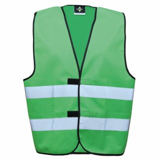 Funktionsweste grün 4XL Rücken- u. Brustdruck