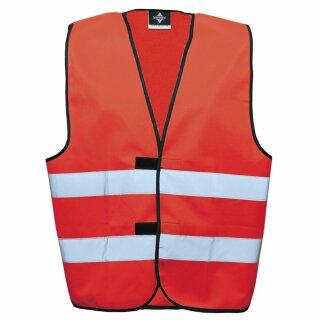 Funktionsweste rot 3XL Rücken- u. Brustdruck