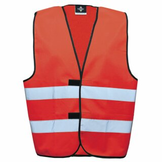Funktionsweste rot 4XL Rücken- u. Brustdruck