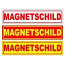Magnetschild 50 x 12 cm, einzeilig