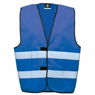 Funktionsweste blau 2XL Rücken- u. Brustdruck
