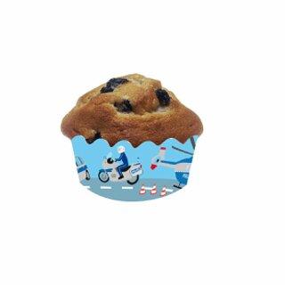 Cupcake Deko-Banderolen - Motiv Polizei