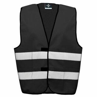 Funktionsweste schwarz 2XL Rücken- u. Brustdruck