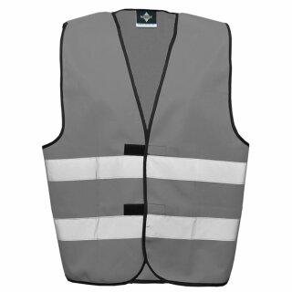 Funktionsweste grau 4XL Rücken- u. Brustdruck