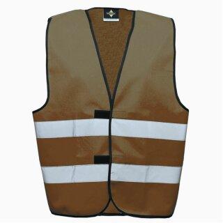 Funktionsweste maroon XL Rücken- u. Brustdruck