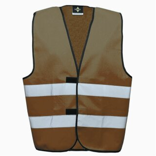 Funktionsweste maroon 2XL Rücken- u. Brustdruck