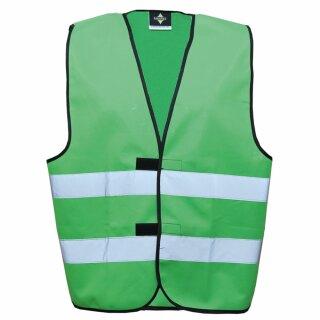 Funktionsweste - Kindergröße grün XS Rücken- u. Brustdruck