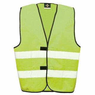 Funktionsweste - Kindergröße limegreen S Rückendruck