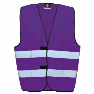 Funktionsweste - Kindergröße violett XS Rückendruck