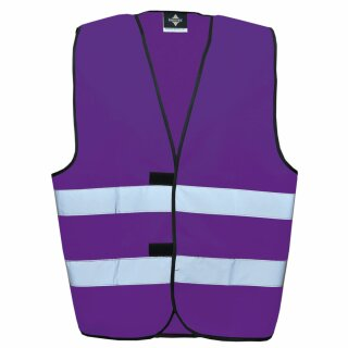 Funktionsweste - Kindergröße violett S Rücken- u. Brustdruck